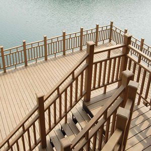 various baluster mold cheap wooden composite fence railings panels for balcony