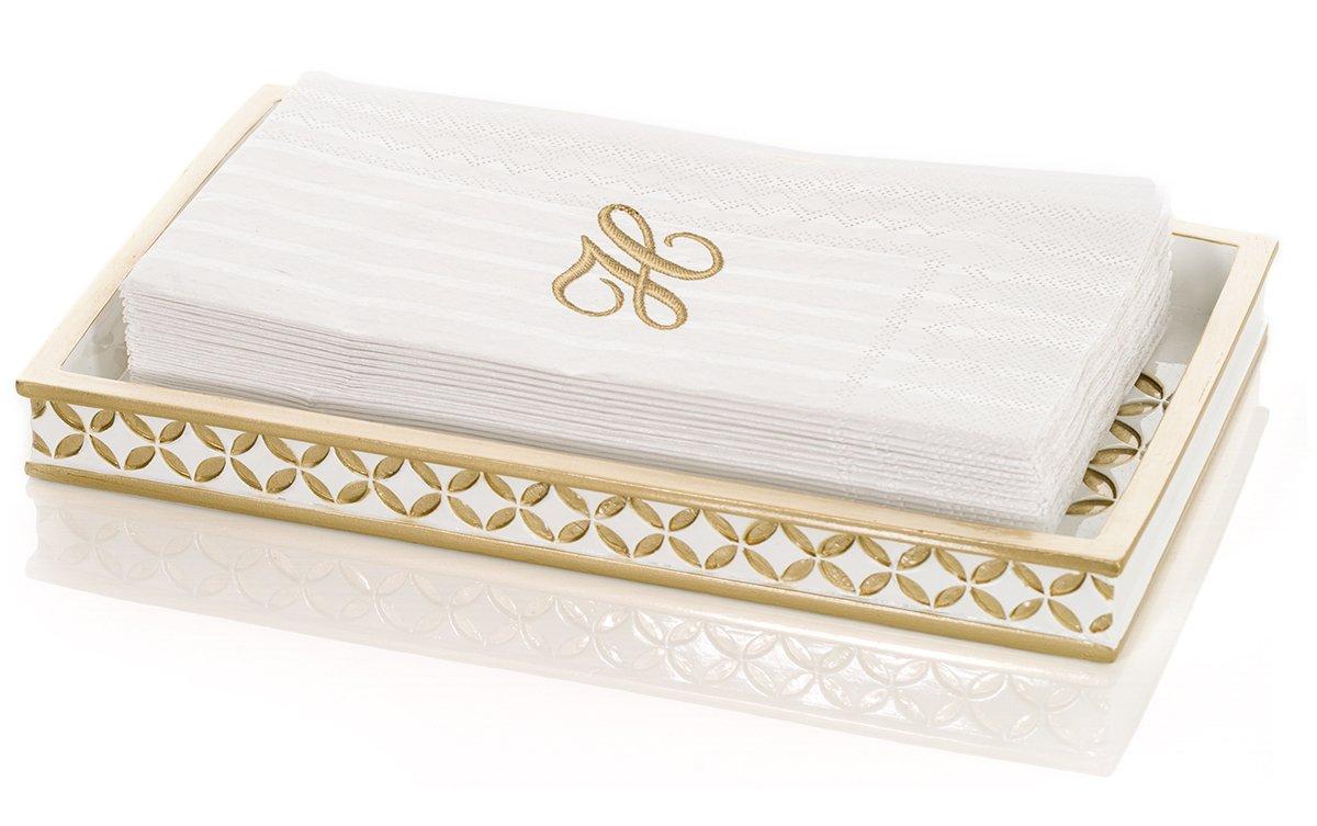 Diamond Lattice Guest Towel Holder, Decorative Cosmetics Organizer, Best Vanity Trays for Arranging Perfume/ Jewelry/ Makeup- Elegant Bathroom Accessories