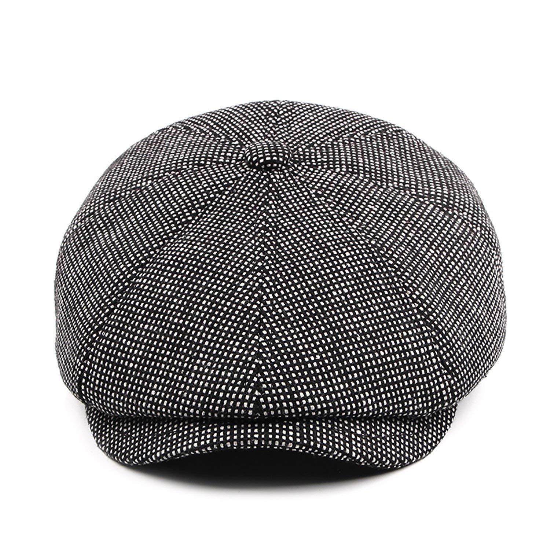 Get Quotations · DYAPP Men s Warm Newsboy Driving Cap Ivy Hat with  Fold-Down Ear Flaps ba668660df6d