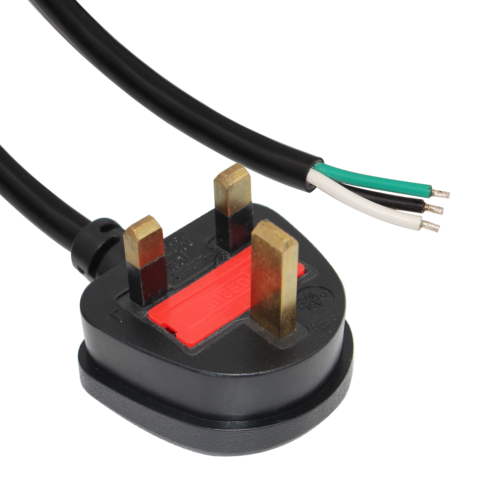 uk plug to stripped power cord