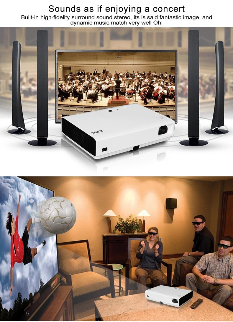 Mini Pico 3D HD Projector 1080p Android Portable Smart Projector With Remote Control for Home Movie