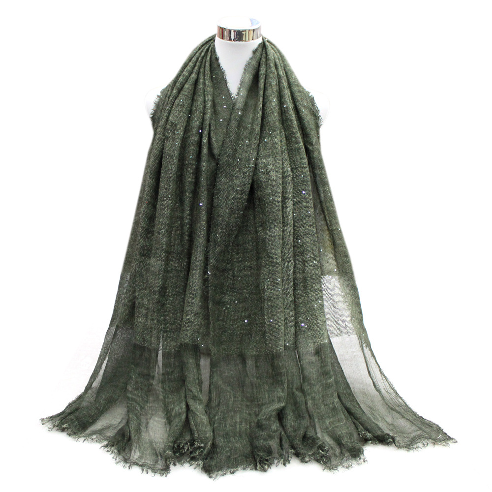 Hot selling top quality muslim cotton pashmina scarf shawl with paillette
