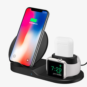For iphone XS Wireless Charger, Qi Certified 10W  Pad Stand Fast 3 in 1 wireless charger