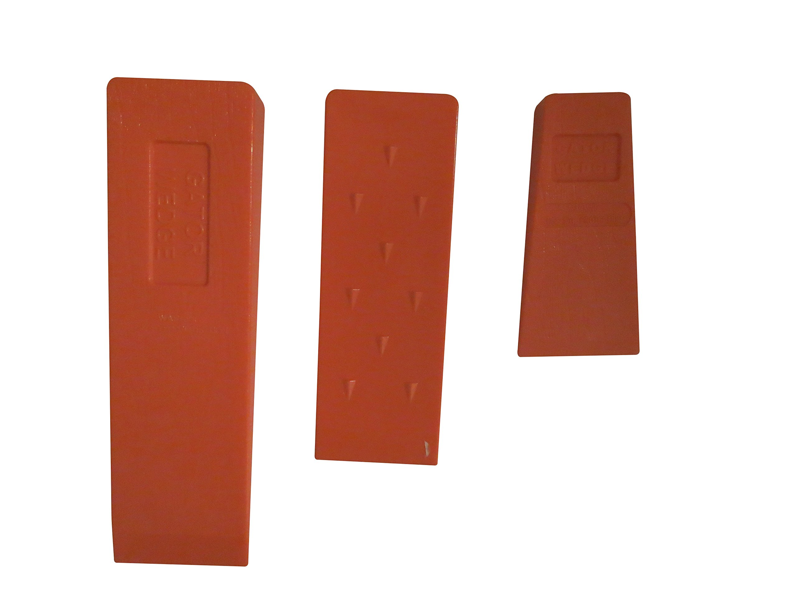 """USA Made Gator Wedge Set Spiked Felling Wedges (Set of 3 Sizes) 5.5"""" 8"""" and 10"""", ABS Plastic, Logging Supplies"""