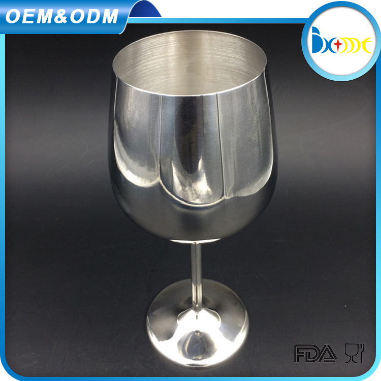 Wine accessories stainless steel unique shape martini glass