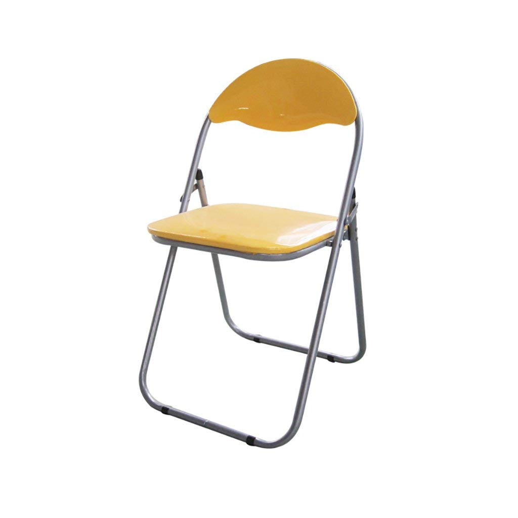 JHZDY Folding Chairs Conference Training Chairs Office Chairs Computer Chairs Household Back Seats Dining Chairs (Color : Yellow)