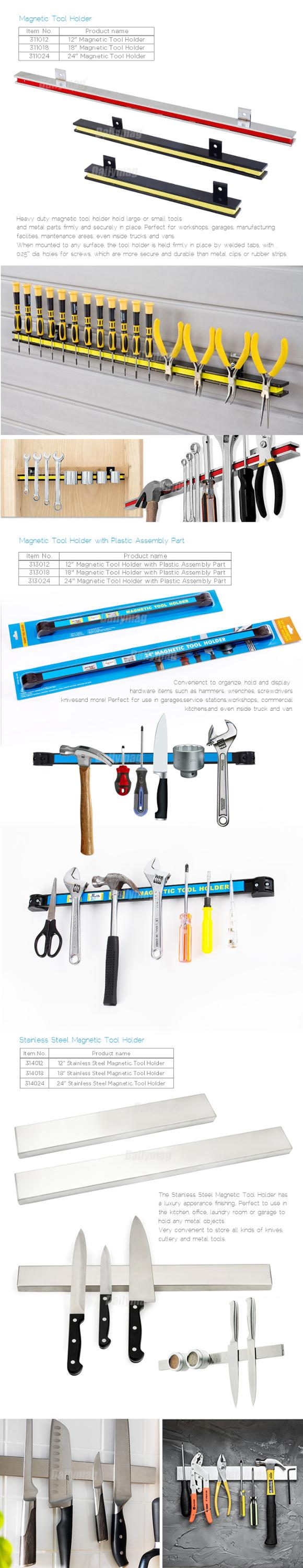 Magnetic Tool Holder Strong Tool Strip For Home, Garage, Office Tool Shop Magnet Tool Organizer