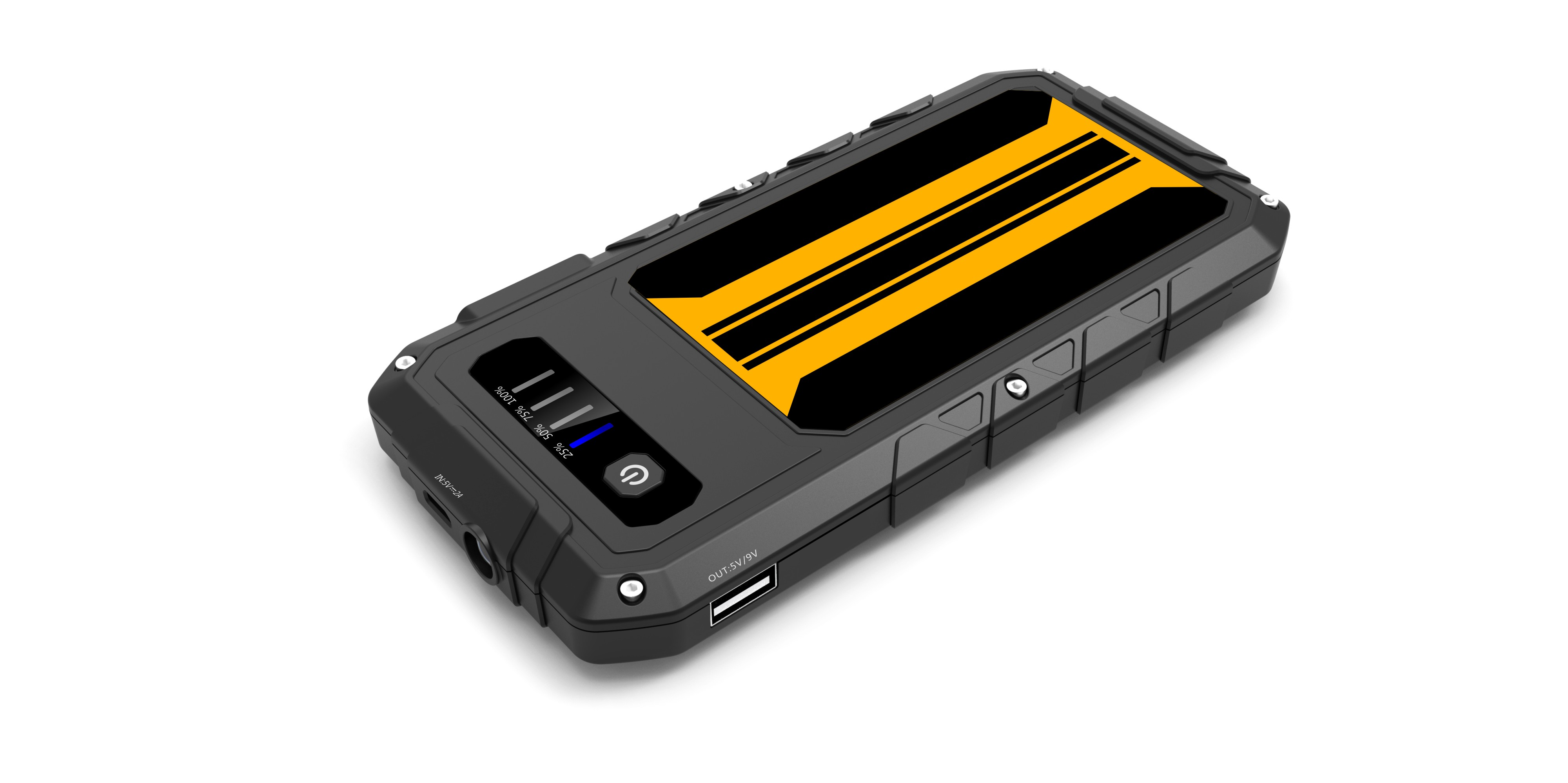 Banco do poder do acionador de partida do carro de CARKU 9000mAh 12V para carregar o telemóvel com carga rápida dupla