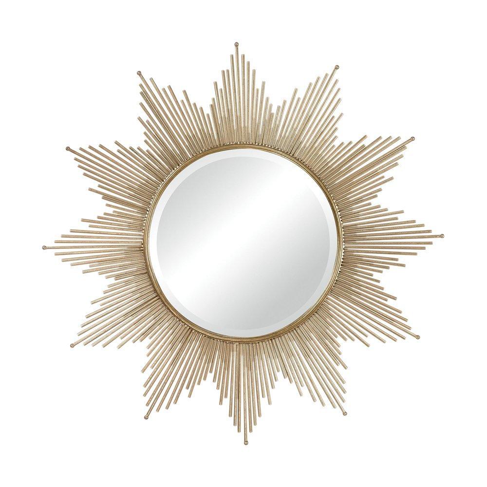 3 10 Inch Round Starburst Mirror Set MCS MCS Industries 51182 Gold