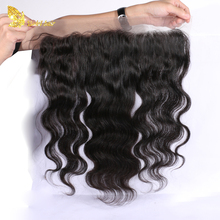 High Quality 100% Malaysian Human Hair Body Wave Bleached Knots 13*4 Lace Frontal With Baby Hair
