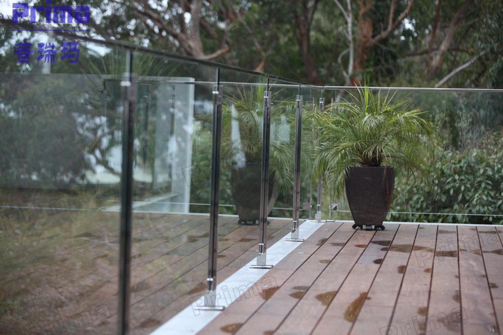 disegno Railing veranda : Balaustra di vetro Ringhiera del Balcone, temperato Glas Ponti ...