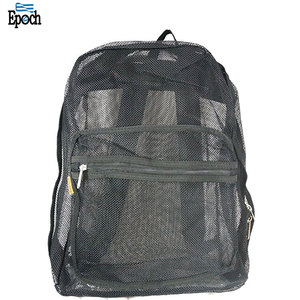 Custom eco-friendly student school mesh backpack,mesh net daypack made in China