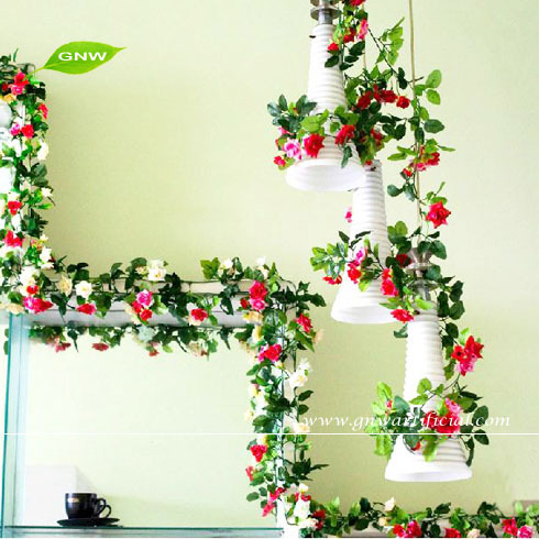 Artificial flowers for home decoration india home decor 2017 flower decoration hanging chain junglespirit