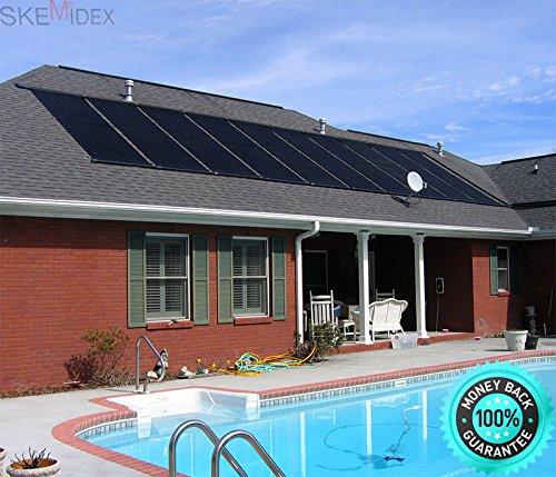 "SKEMIDEX---28""x20' Solar Energy Swimming Pool spas Sun Heater Panel Inground Above Ground And solar panels for inground pools solar panels for swimming pools reviews pool solar panels for sale sunque"