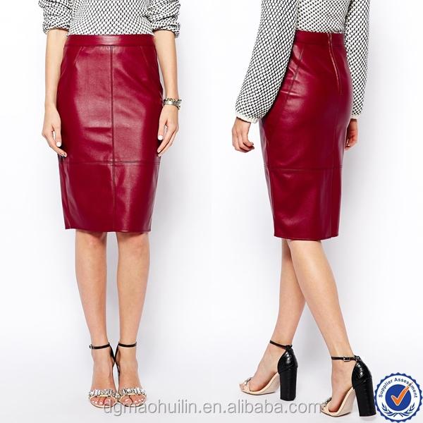 bureau uniforme mode jupe d 39 ge m r femmes brillant jupe en cuir serr sexy rouge en cuir jupes. Black Bedroom Furniture Sets. Home Design Ideas