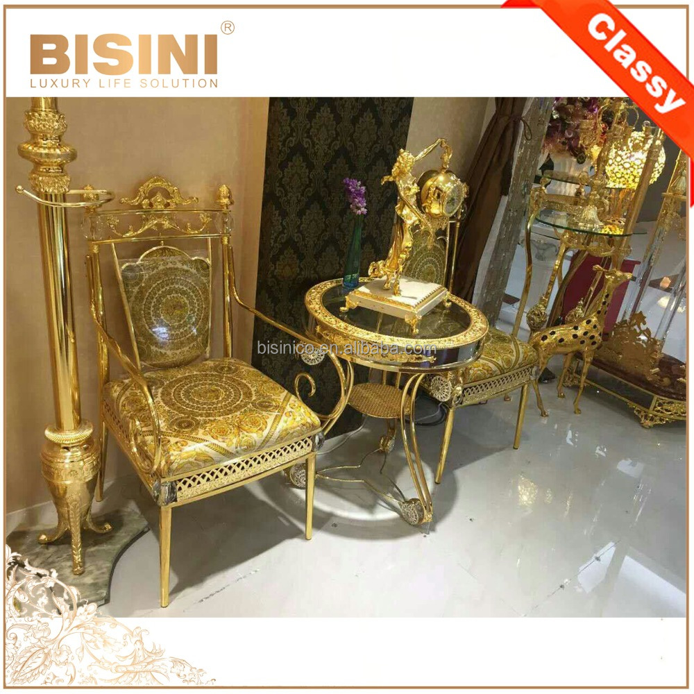 Luxury New Design Baroque Style Living Room 18k/24k Gilded Armchair/louis  Xv Royal Brass Carved Side Chair,Moq 1 Pc   Buy Baroque Armchair,24k Gilded  ...