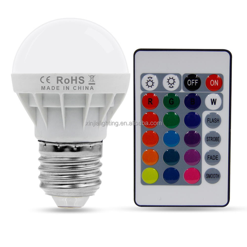SINJIA 3W E27 RGB LED Magic Global <strong>Bulbs</strong> With Remote QP0310