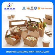 Disposable printing foldable take away chinese food packing box,food packaging box