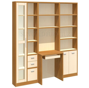 Modern Design Computer Cabinet Study Table With Bookshelf Sz Fcb394