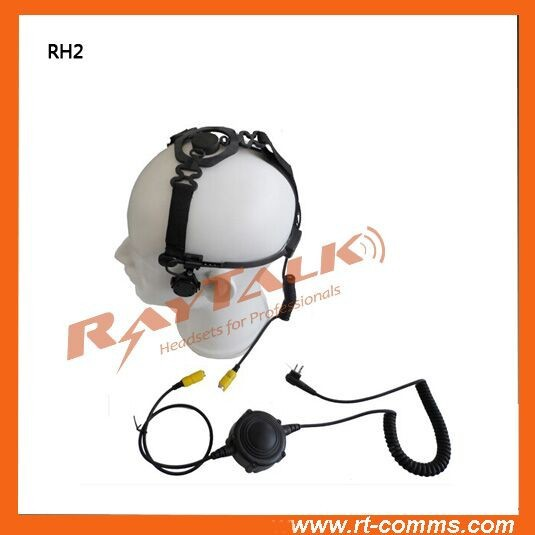 Helmet skull bone conduction headset with large PTT for Fireman