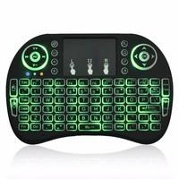 Best Selling Mini Wireless Keyboard Backlit 2.4G I8 Pro 92 Keys Colorful Backlit