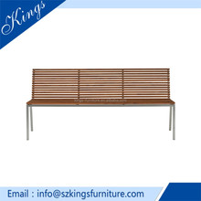 Charming designed cheap iron garden bench/patterned seating benches/wooden outdoor chair B206