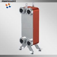 Refrigerant Chiller and Water Cooling Evaporator Copper Brazed Plate Heat Exchanger