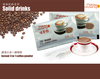 Food grade instant 3 in 1 coffee
