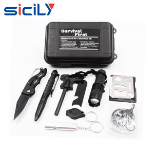 Survival Kit Outdoor Emergency Gear Kit Mini Hand Tool Kit Set for Camping Hiking Travelling