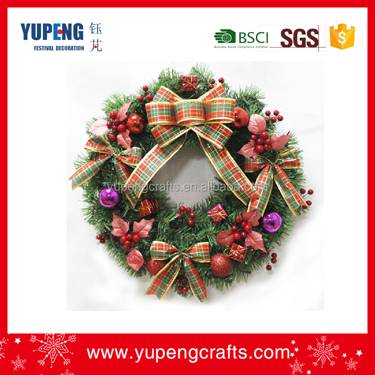 Proper price top quality decoration wholesale artificial christmas wreaths