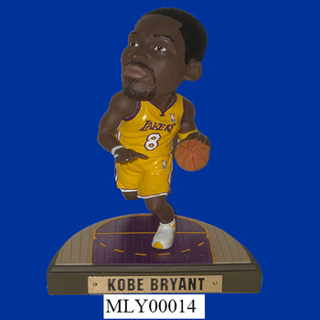 Decorative Kobe Bryant Los Angeles Lakers Resin Funny Bobble Heads ...