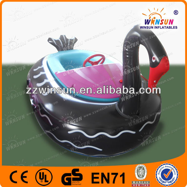 CE high quality black swan attraction child bumper boat