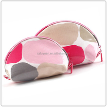 Wholesale high popular shell nylon flower pattern printed modella cosmetic bag