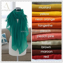 Mixed solid plain hijab scarf aokong wraps foulard viscose cotton maxi shawls soft long islamic muslim scarves hijabs