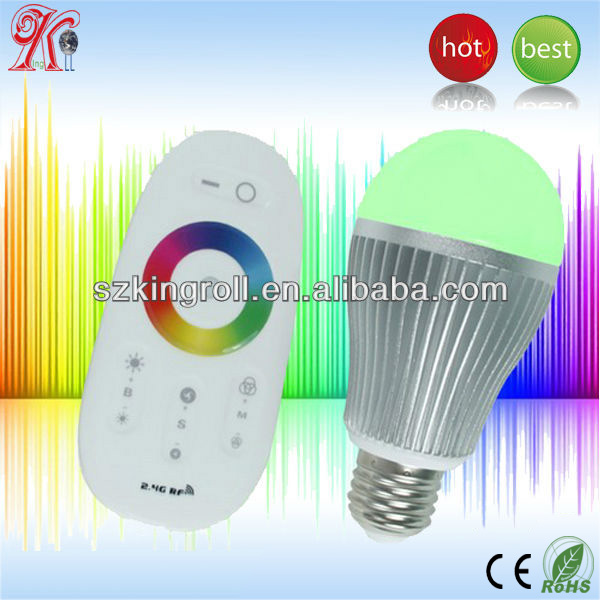 High quality e27 remote control 16 color rgb led b b light