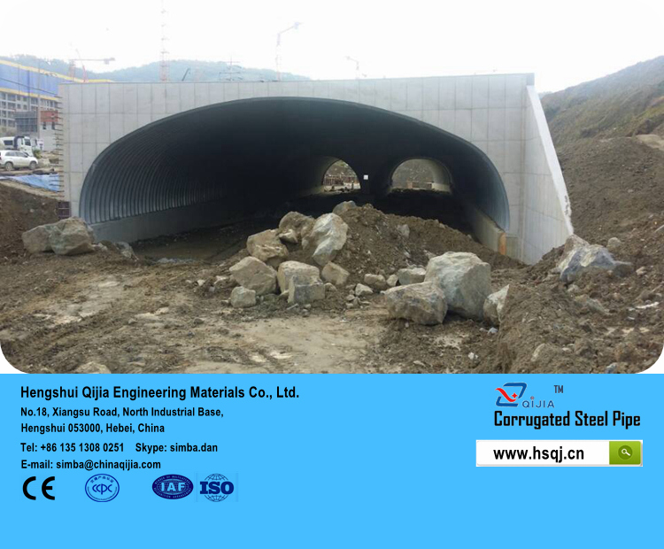Department of Transportation service life standards for corrugated steel pipe with galvanized