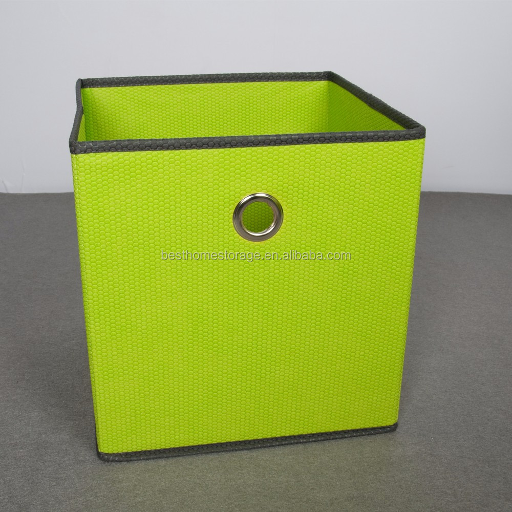 new customized green square storage bins comfortble felt storage cube foldable drawer organiser