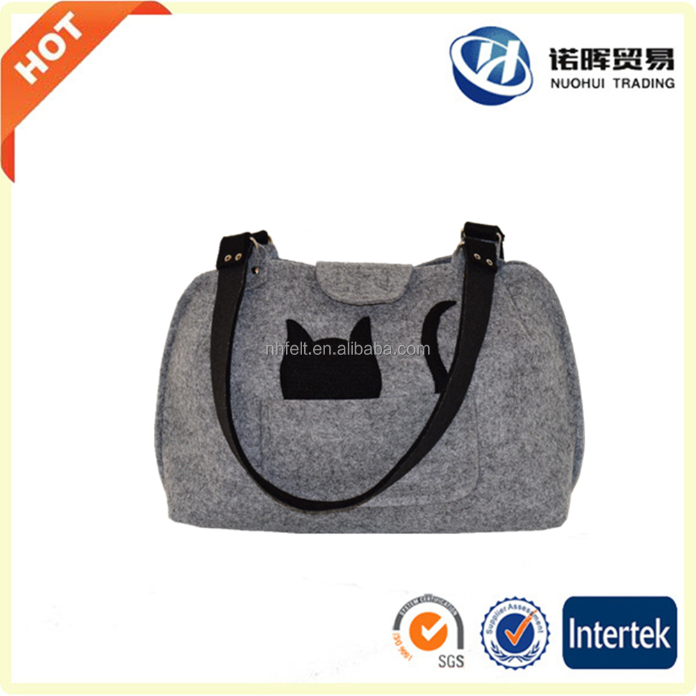 New design Christmas cat felt bag
