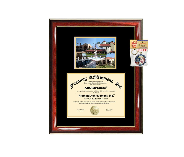 California Baptist University Diploma Frame - CBU Graduation Degree Frame - Matted Campus College Photo Graduation Certificate Plaque University Framing Graduate Gift Collegiate
