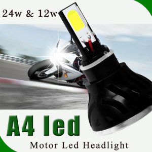 12 Month Warranty led A3 A4 led Motorcycle Bike light 6V 12v 6000k COB LED Hi Lo spot car Front light led H4 OEM motor headlight