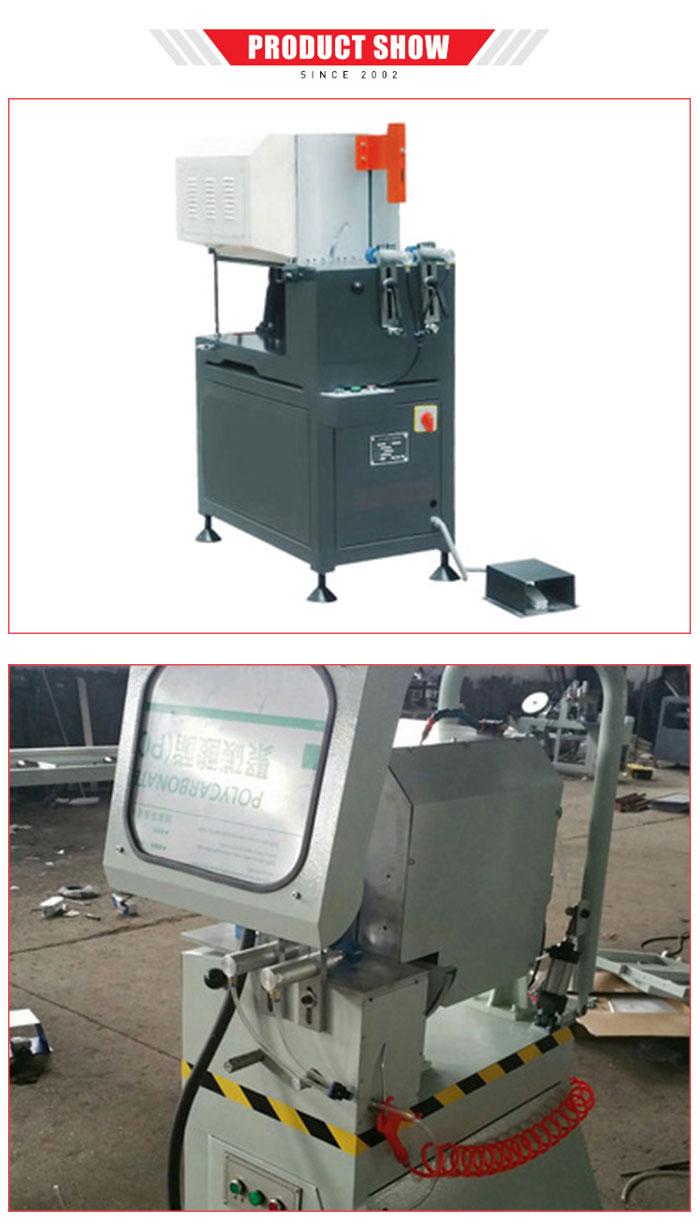 Enkele Kop aluminium snijmachine voor profielen