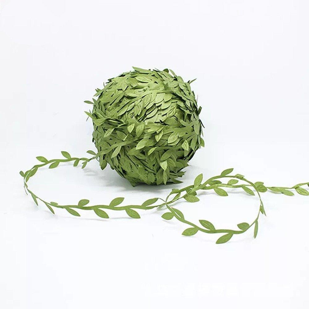 Olive Green Leaves Leaf Trim Ribbon 21 8 Yards Diy Headband
