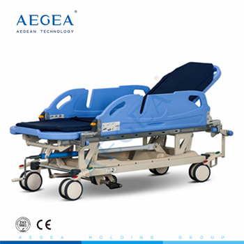 AG-HS020 hydraulic adjustable abs handrails operating room transfer ambulance used hospital emergency rescue stretcher price