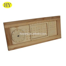 Custom Unfinished Natural Standing Wooden Calendar on Desk Top
