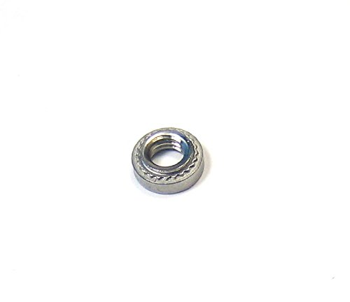 , Thread Size .250-20 Fastener Material: 300 Series Stainless Steel Quantity 100 Hole Size in Sheet .344 inches 1//4-20 CLS-0420-2 Penn Engineering SELF-CLINCHING PEM NUT Passivated Finish