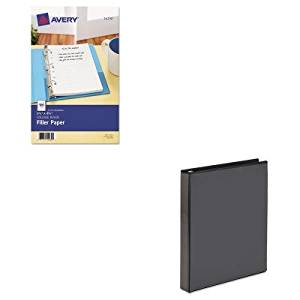 KITAVE14230AVE19600 - Value Kit - Avery Economy Showcase View Binder with Round Rings (AVE19600) and Avery Mini Binder Filler Paper (AVE14230)
