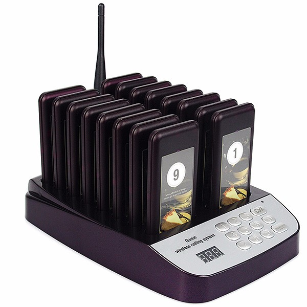 16 pagers restaurant coaster pager sysetm with good quality and cheap price