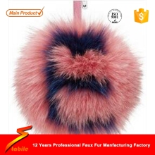 STABILE rabbit fur accessories/key chain with fur/fur ball keychain