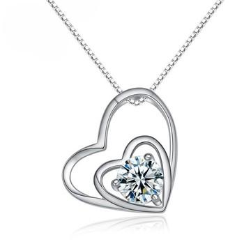 New model necklace pendant romantic love meaning gift double heart new model necklace pendant romantic love meaning gift double heart pendant with aaa zircon aloadofball Choice Image