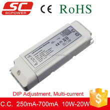 DALI DIP adjustment constant current dimmable led driver dali dimming 10-20w